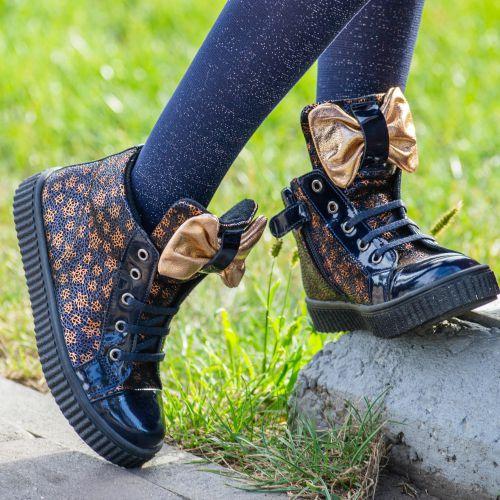 Ботинки для девочек 1002 | Детская обувь 15 см оптом и дропшиппинг