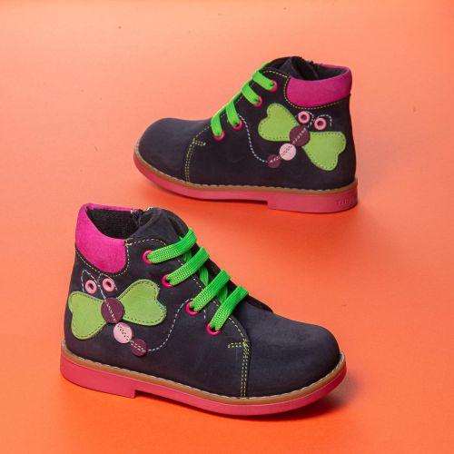 Ботинки для девочек 1022 | Детская обувь 14,6 см оптом и дропшиппинг