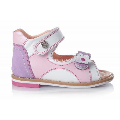 Босоножки для девочек 104 | Белая детская обувь 16,6 см из нубука