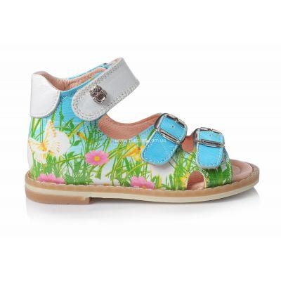 Босоножки 106 | Зеленая обувь для девочек
