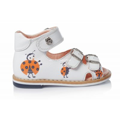 Босоножки 107 | Белая детская обувь 19 размер 12 см