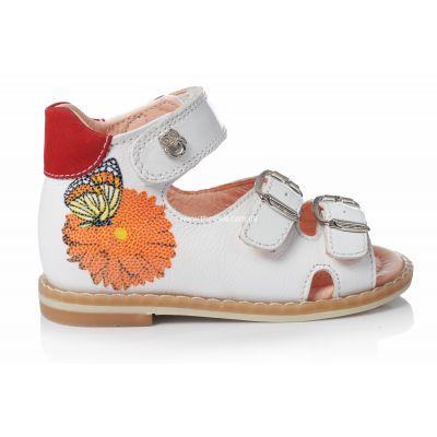 Босоножки 108 | Белая детская обувь 19 размер 12 см