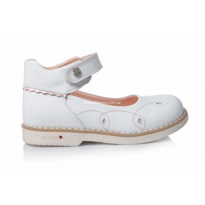 Туфли 114 | Белые ортопедические детские туфли