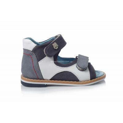 Босоножки 122 | Белая детская обувь 2 года из нубука