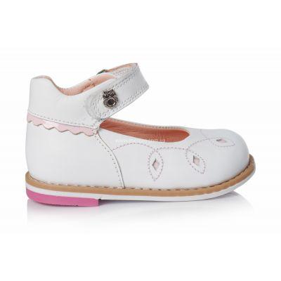 Туфли 138 | Белые детские туфли, мокасины 14 см