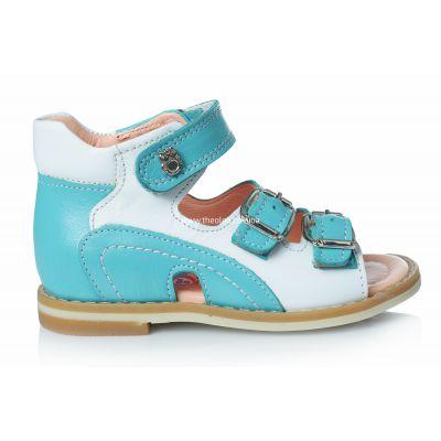 Босоножки 149 | Бирюзовая ортопедическая детская обувь 11,8 см
