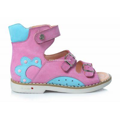 Ортопедические босоножки 154 | Голубая обувь для девочек