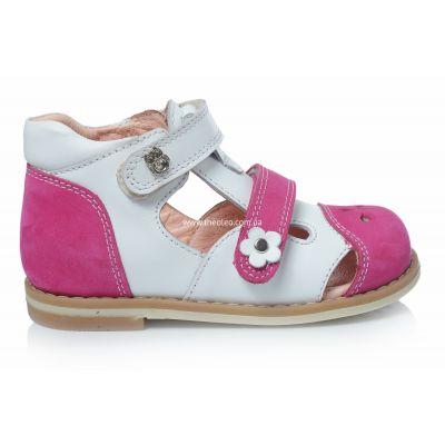 Босоножки 161 | Белая детская обувь 16,6 см из нубука