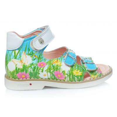 Босоножки 166 | Зеленая обувь для девочек