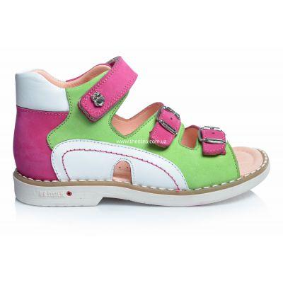 Босоножки 195 | Белая обувь для девочек, для мальчиков из нубука