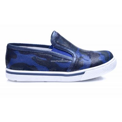 Слипоны 203 | Белая обувь для девочек, для мальчиков 14 см