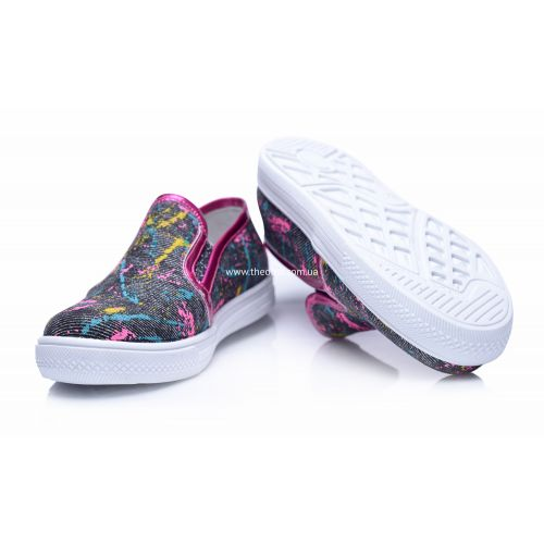 Слипоны 206   Текстильная детская обувь оптом и дропшиппинг