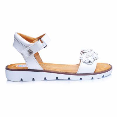 Босоножки 232 | Белая детская обувь 12 лет 31 размер