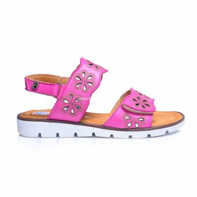 Босоножки 240 | Бежевые, розовые приглушенные, розовые модные туфли, босоножки для девочек 5, 6 лет 27 размер