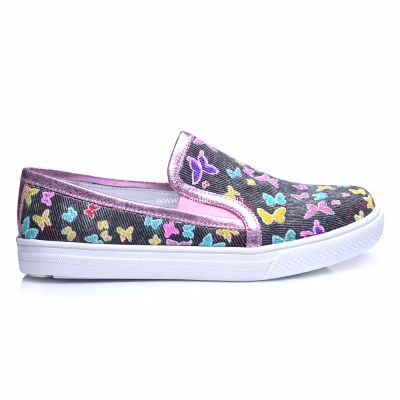 Слипоны 244 | Бежевая обувь для девочек, для мальчиков 22,1 см