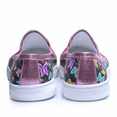 Слипоны 244 | Текстильная детская обувь оптом и дропшиппинг