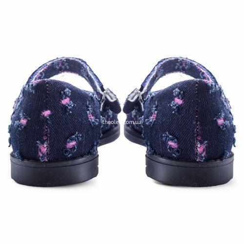 Туфли для девочек 253 | Текстильная детская обувь оптом и дропшиппинг
