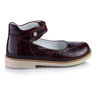 Туфли для девочек 324 | Бордовая детская обувь 29 размер