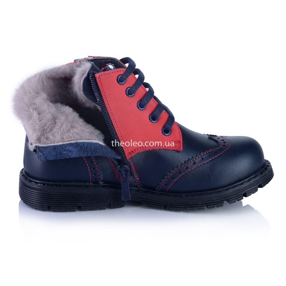 Ботинки для мальчика с натуральным мехом