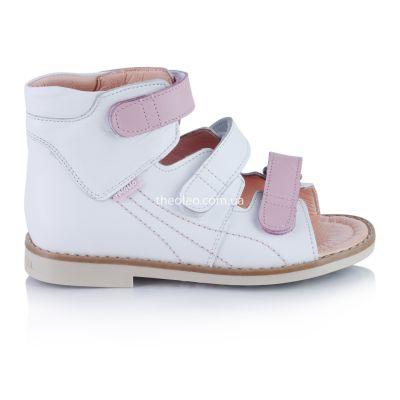 Ортопедические босоножки для девочек 364 | Белая детская обувь 12 лет 34 размер