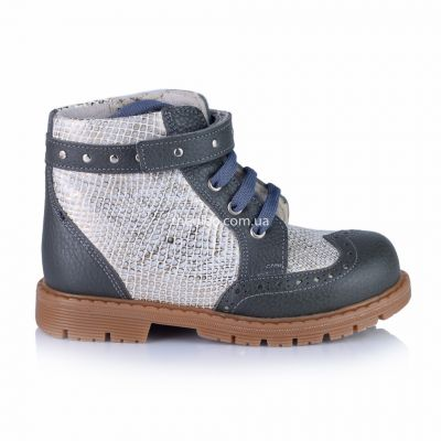 Ботинки для девочек 368 | Бежевая осенняя детская обувь