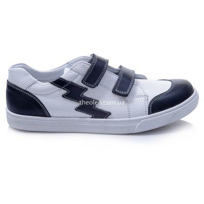 Кроссовки для мальчиков 371 | Белые весенние детские кроссовки, мокасины