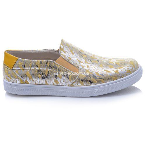 Слипоны для девочек 378 | Детская обувь 21,7 см оптом и дропшиппинг
