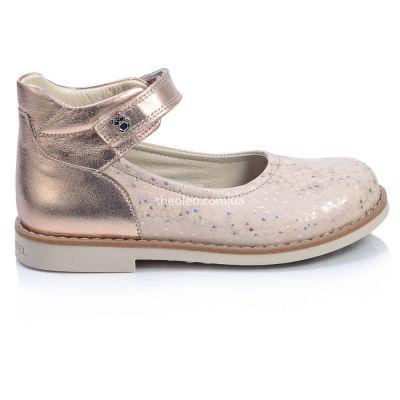 Туфли для девочек 383 | Бежевая обувь для девочек, для мальчиков 34 размер