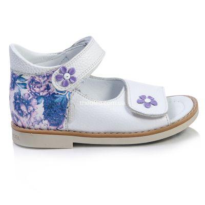 Босоножки для девочек 395 | Белая детская обувь 22 размер