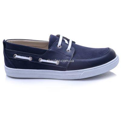 Мокасины для мальчиков 413 | Белая детская обувь 11 лет из нубука