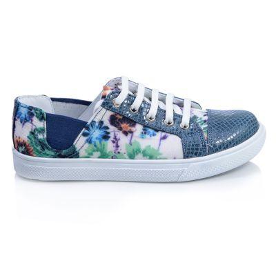Мокасины для девочек 424 | Осенняя текстильная детская обувь