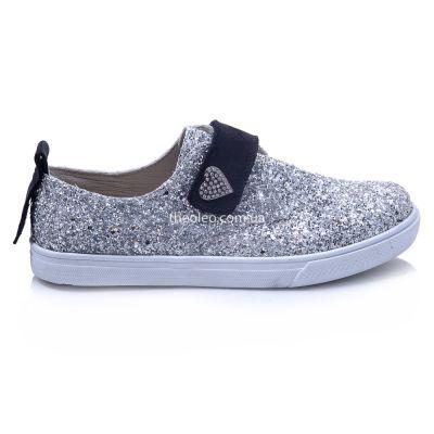Мокасины для девочек 427 | Белые детские туфли, мокасины 31 размер