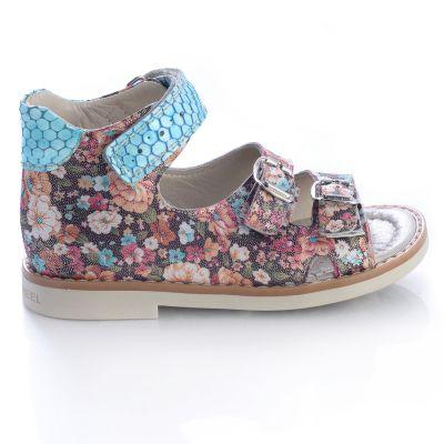 Босоножки для девочек 436 | Бирюзовая текстильная обувь для девочек, для мальчиков