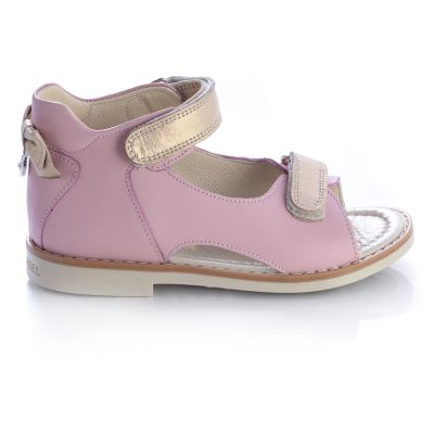 Босоножки для девочек 445 | Бежевые, розовые приглушенные, розовые модные туфли, босоножки для девочек 5, 6 лет 27 размер