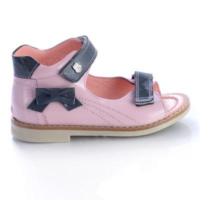 Босоножки для девочек 453 | Бежевые, розовые приглушенные, розовые модные туфли, босоножки для девочек 5, 6 лет 27 размер