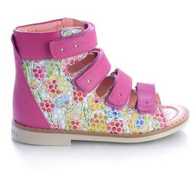 Ортопедические босоножки для девочек 458 | Бежевые, розовые приглушенные, розовые модные туфли, босоножки для девочек 5, 6 лет 27 размер