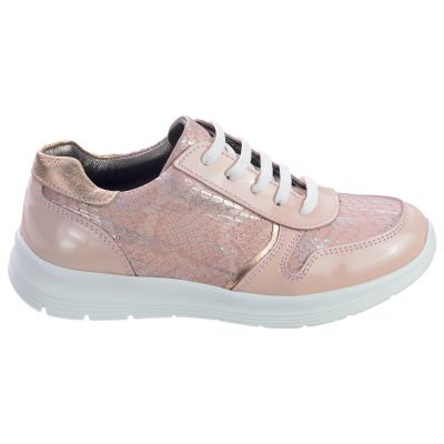 Кроссовки для девочек 489 | Бежевая весенняя детская обувь 24,9 см