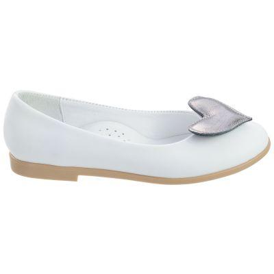 Туфли для девочек 496 | Белая детская обувь 11 лет 23,5 см