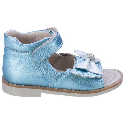 Босоножки для девочек 526 | Бирюзовая обувь для девочек 20 см