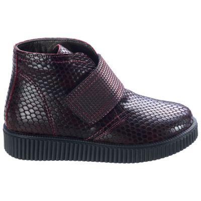 Ботинки для девочек 557 | Бордовая детская обувь 11 лет 21,5 см