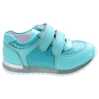 Кроссовки для девочек 562 | Бирюзовая спортивная детская обувь 10 лет