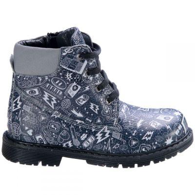 Ботинки для девочек 564 | Серая осенняя детская обувь