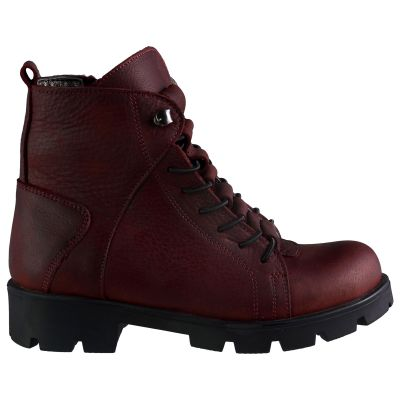 Ботинки для девочек 595 | Бордовая кожаная детская обувь 39 размер