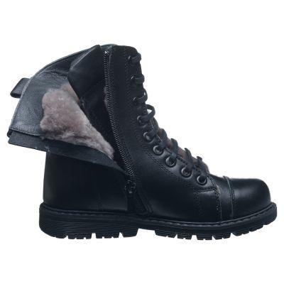 Зимние ботинки для мальчиков 628 | Распродажа кожаной детской обуви