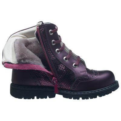 Зимние сапоги для девочек 637 | Распродажа кожаной детской обуви