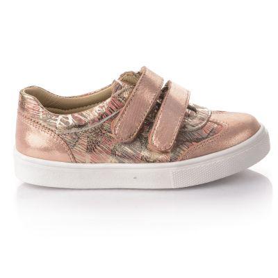Кроссовки для девочек 647 | Серая осенняя детская обувь