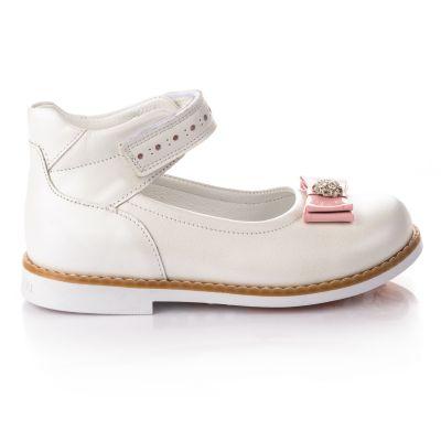 Туфли для девочек 650 | Белые детские туфли, мокасины 22,7 см