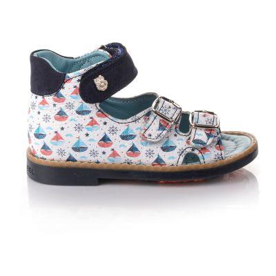Босоножки для мальчиков 653 | Белая детская обувь 22 размер