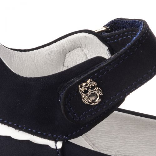Туфли для девочек 655 | Детская обувь из нубука оптом и дропшиппинг
