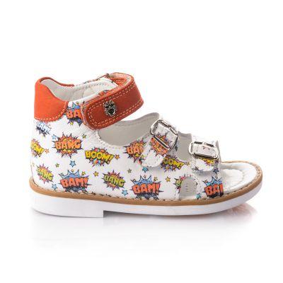 Босоножки для девочек 659 | Белая детская обувь 22 размер